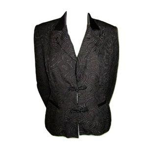 Simon Chang Black Textured Jacket Size 8